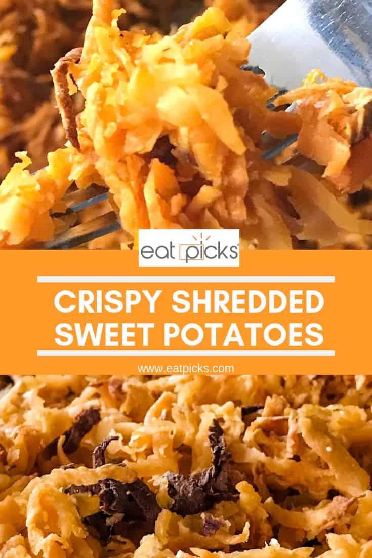 Crispy Shredded Sweet Potatoes Pinterest Image