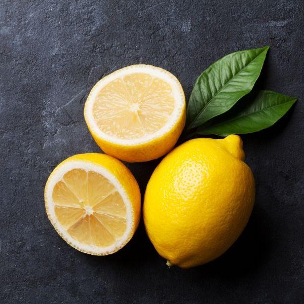 Lemon Sliced on slate board
