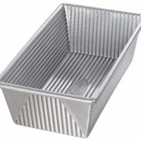USA Pan 1145LF Bakeware Aluminized Steel 1 1/4 Pound Loaf Pan, Medium, Silver