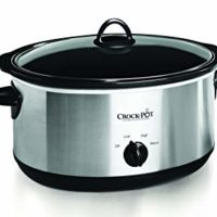 Crock-pot Oval Manual Slow Cooker, 8 quart, Stainless Steel (SCV800-S)