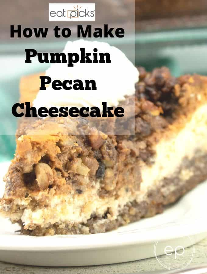 Pumpkin Pecan cheesecake on plate