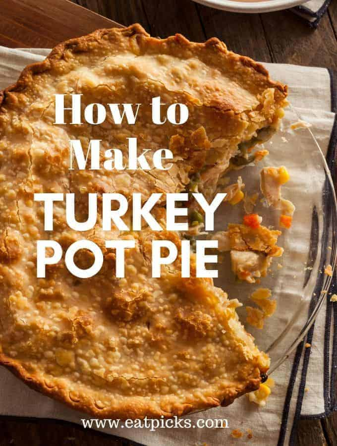 Turkey Pot Pie in glass pie plate