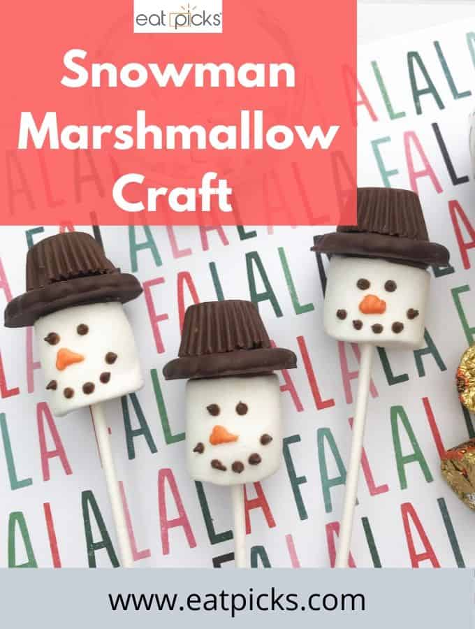 Snowman Marshmallow Craft Pop