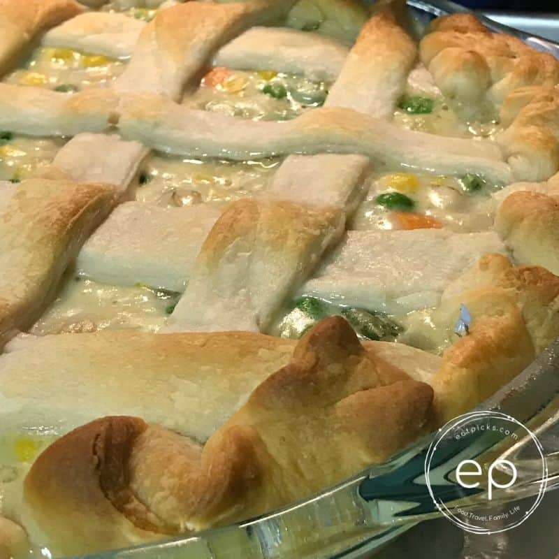 Baked Chicken Pot Pie with Crescent Roll dough