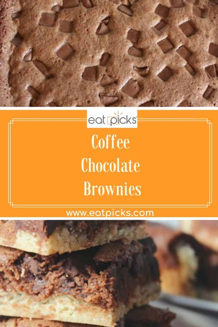 Coffee Chocolate brownies pin image