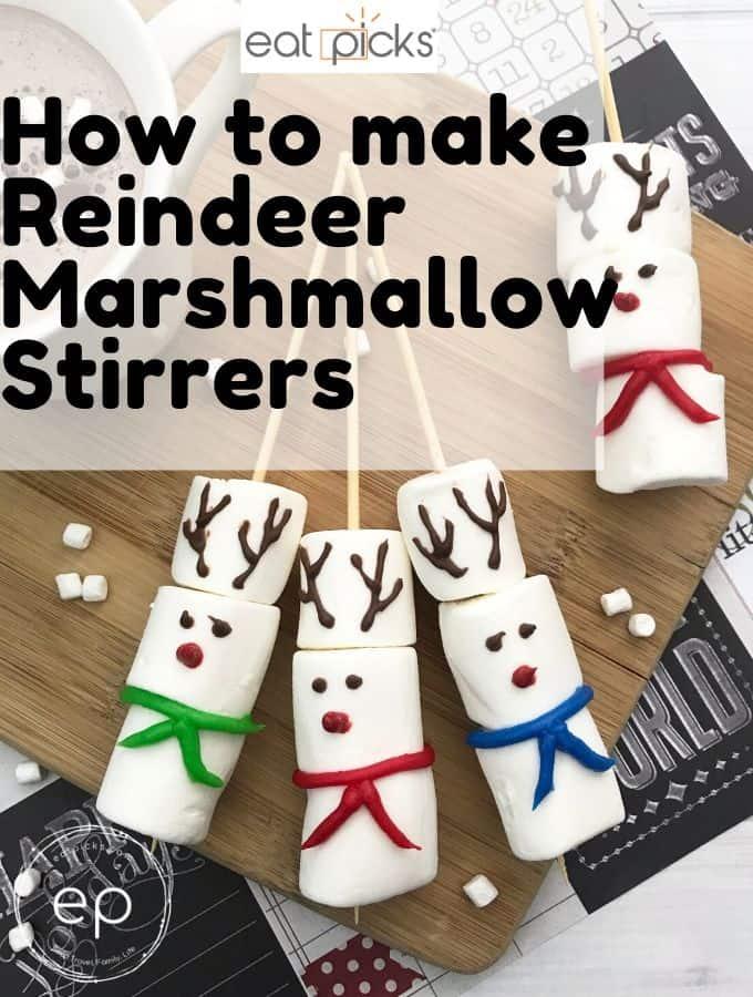 Marshmallow Reindeer Stirrers