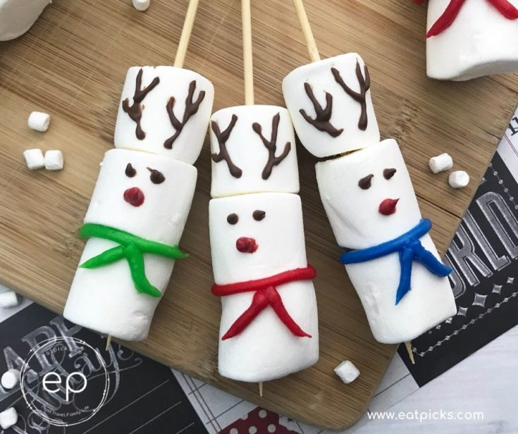 How to Make DIY Marshmallow Reindeer Stirrers