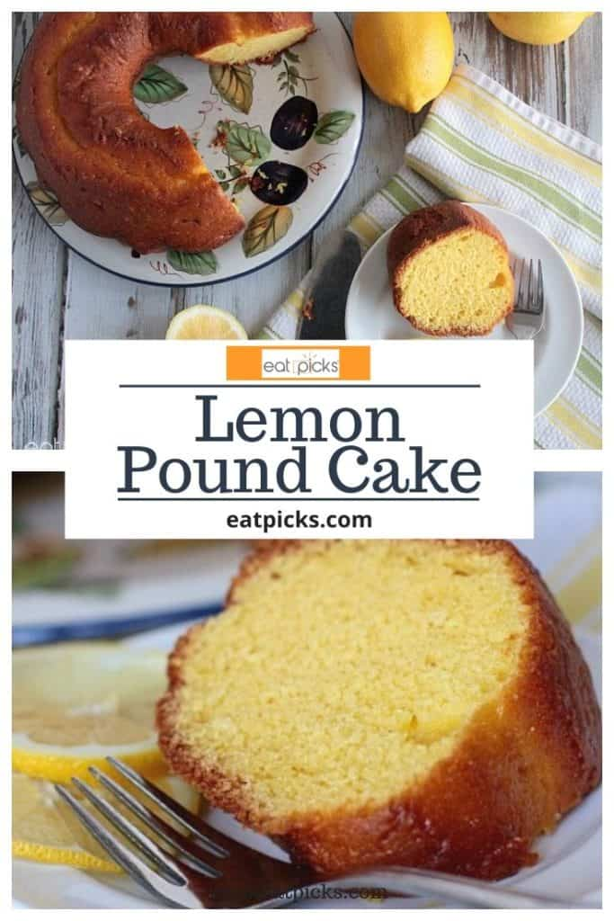Lemon Pound Cake slice and cake