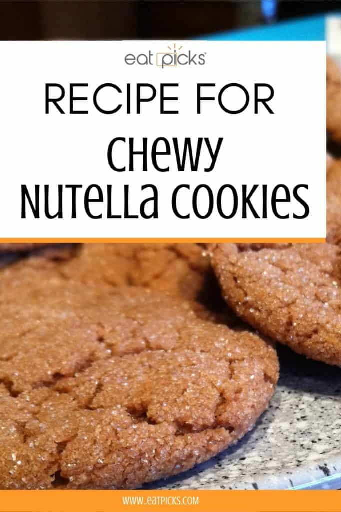 recipe for chewy nutella cookies