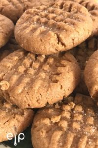3 ingredient peanut butter cookies on plate