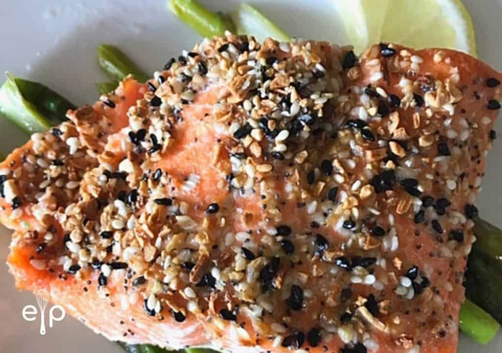 Everything bagel salmon