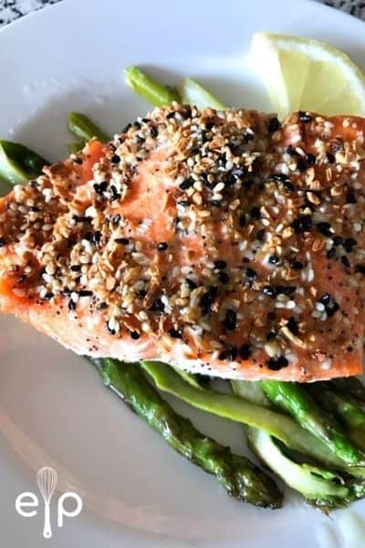 air fryer salmon everything bagel seasoning