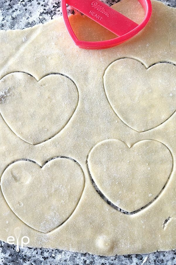Crispy sugar cookie cut out hearts